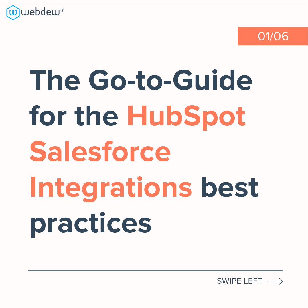 1- the go-to-guide for the HubSpot salesforce integrations best practices