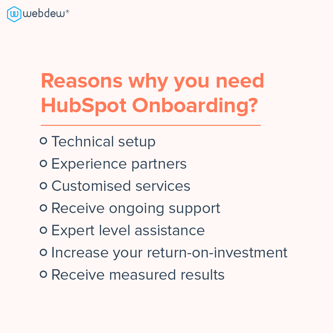 2 - reasons why you need HubSpot onboarding