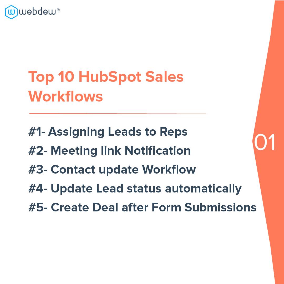 2- top 10 HubSpot sales workflows
