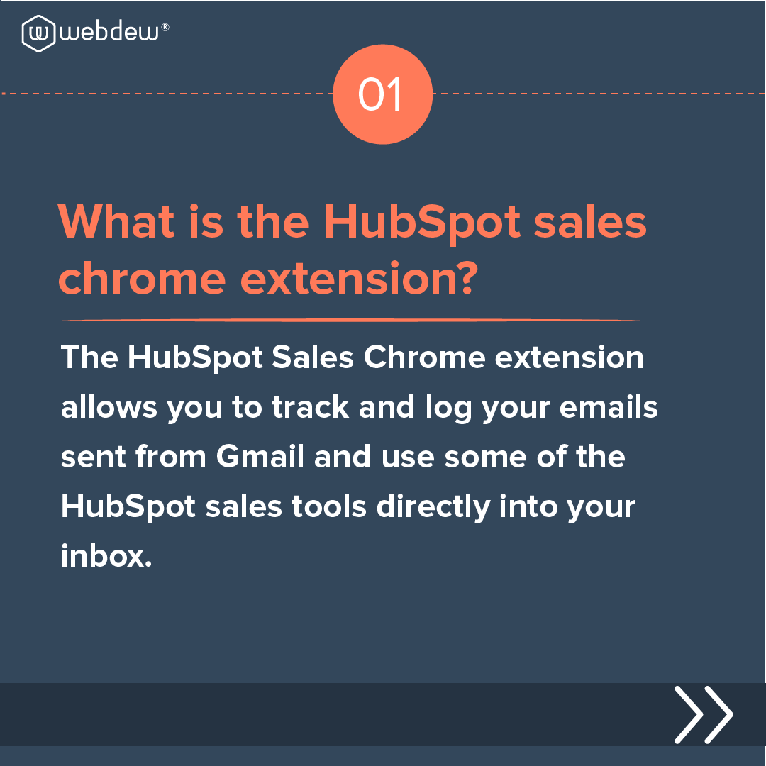 2- what is the HubSpot sales chrome extension