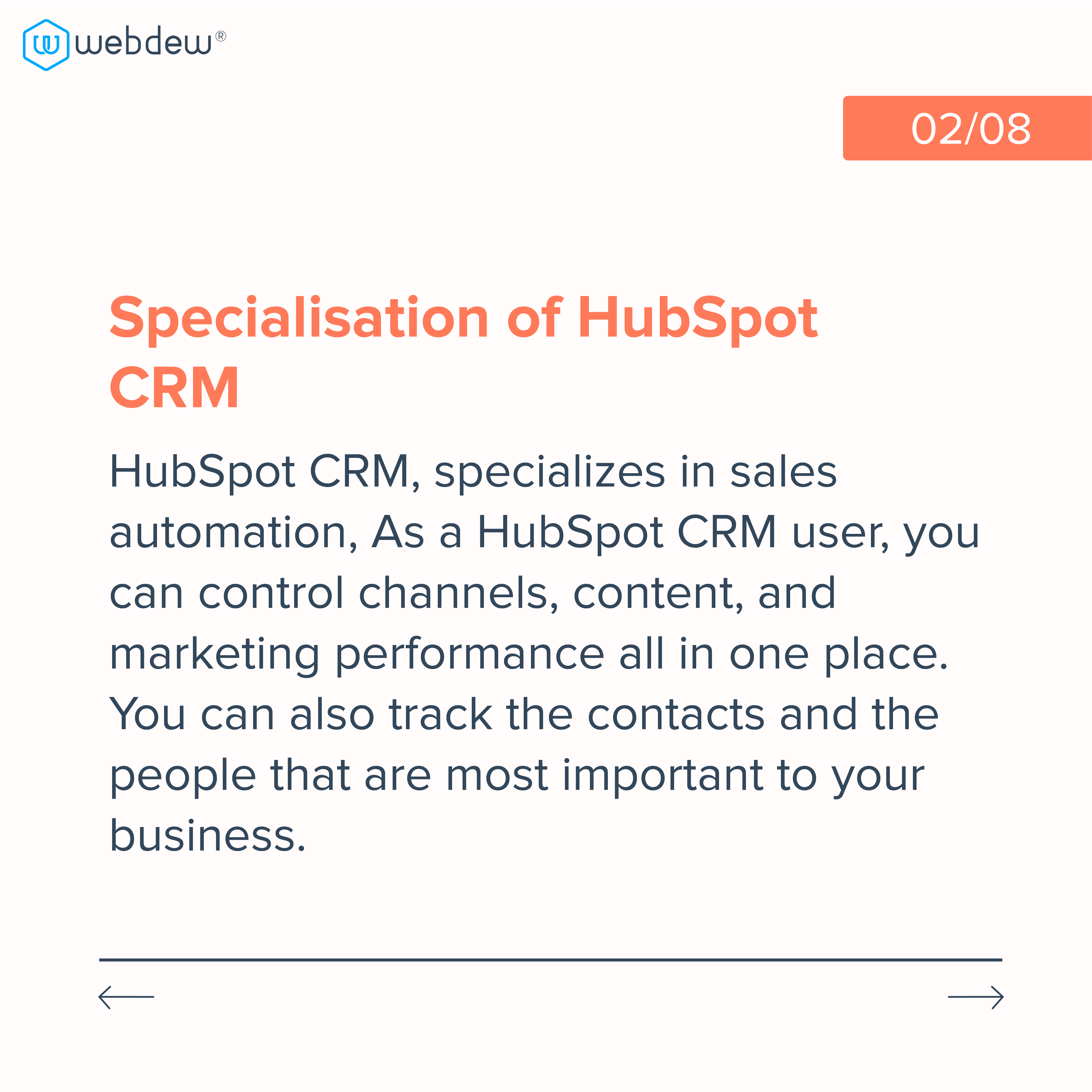 2. specialization of hubspot CRM