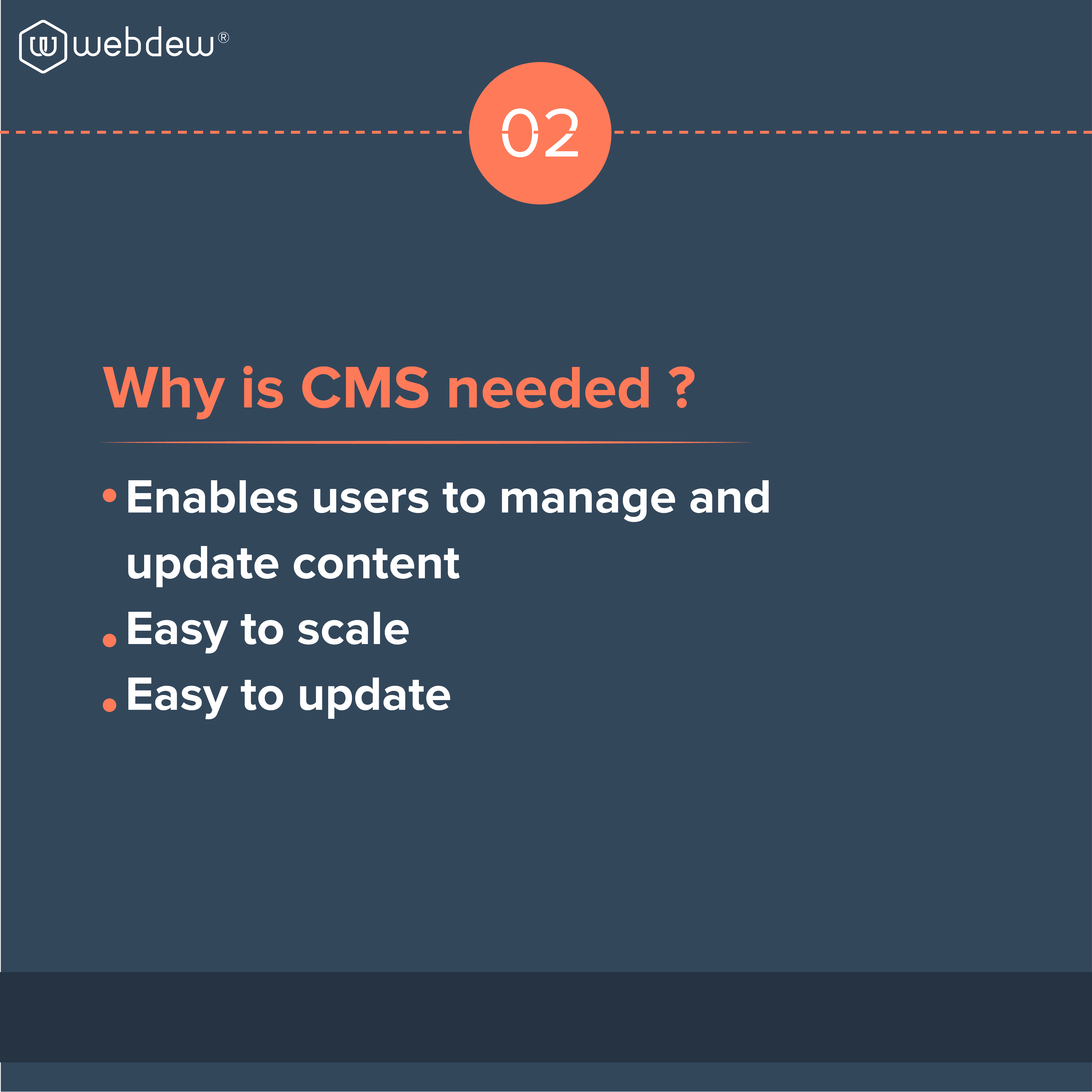 2. why is CMS needed