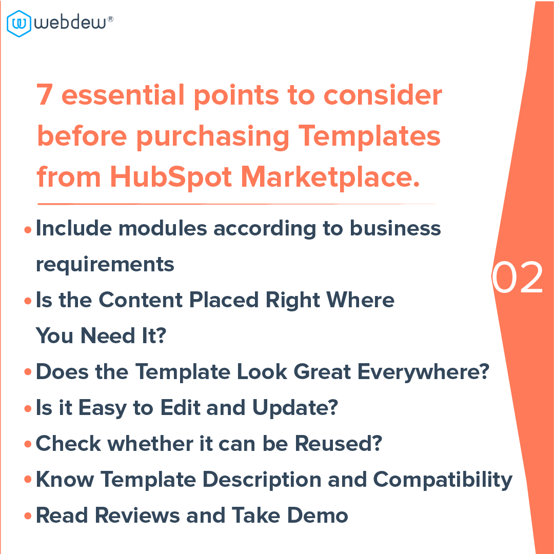 3 - 7 essential points to consider before purchasing template from HubSpot marketplace