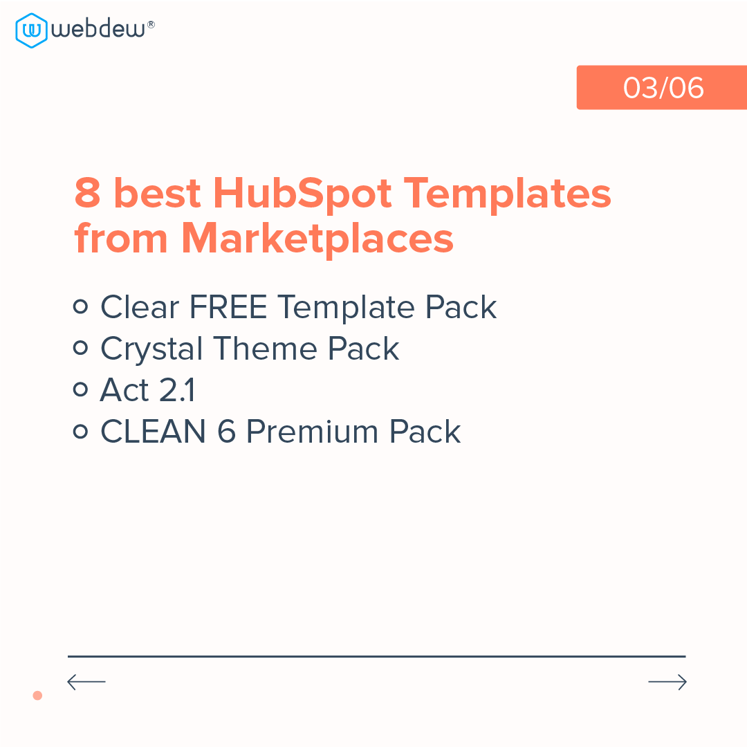 3- 8 best HubSpot templates from marketplaces