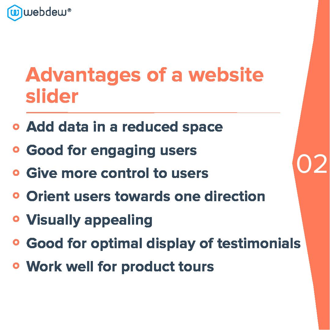 3- advantages of a website slider