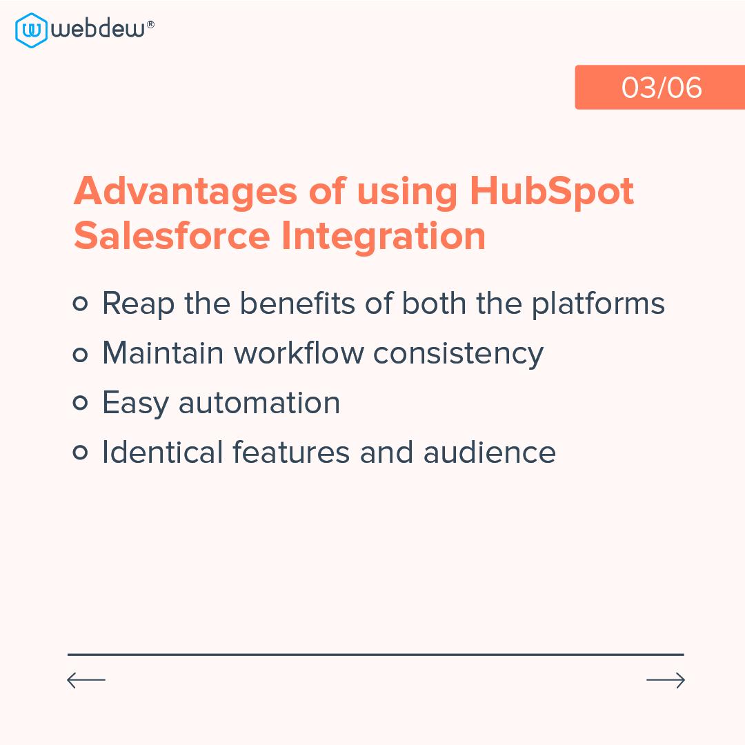 3- advantages of using HubSpot salesforce integration