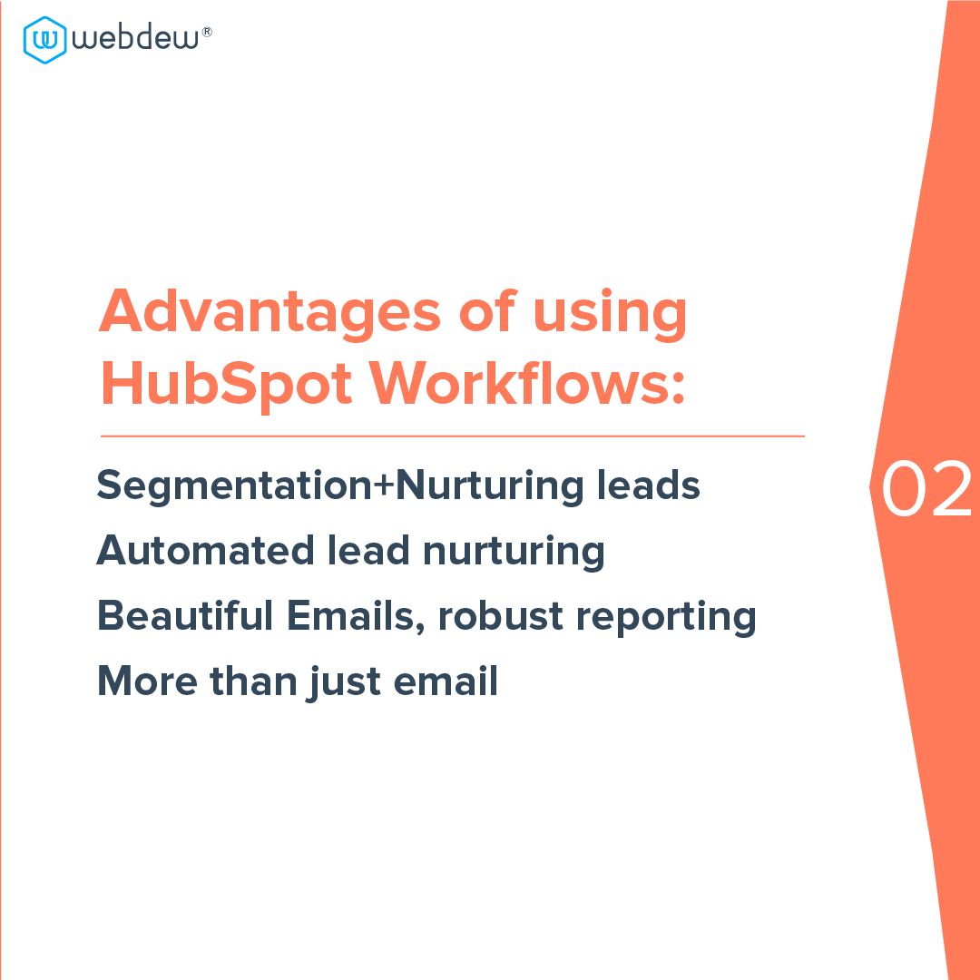 3- advantages of using HubSpot workflows