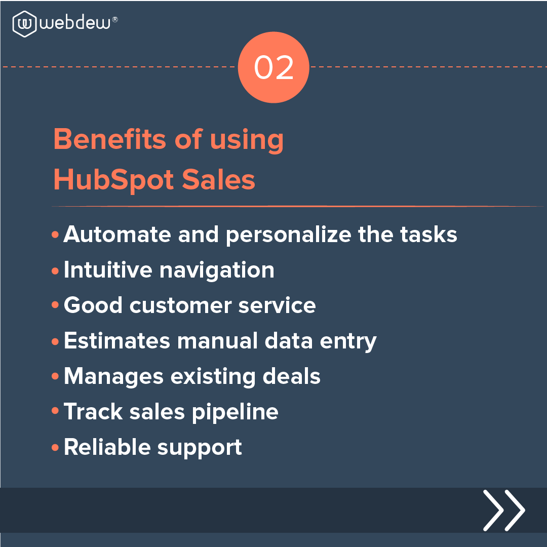 3- benefits of using HubSpot sales