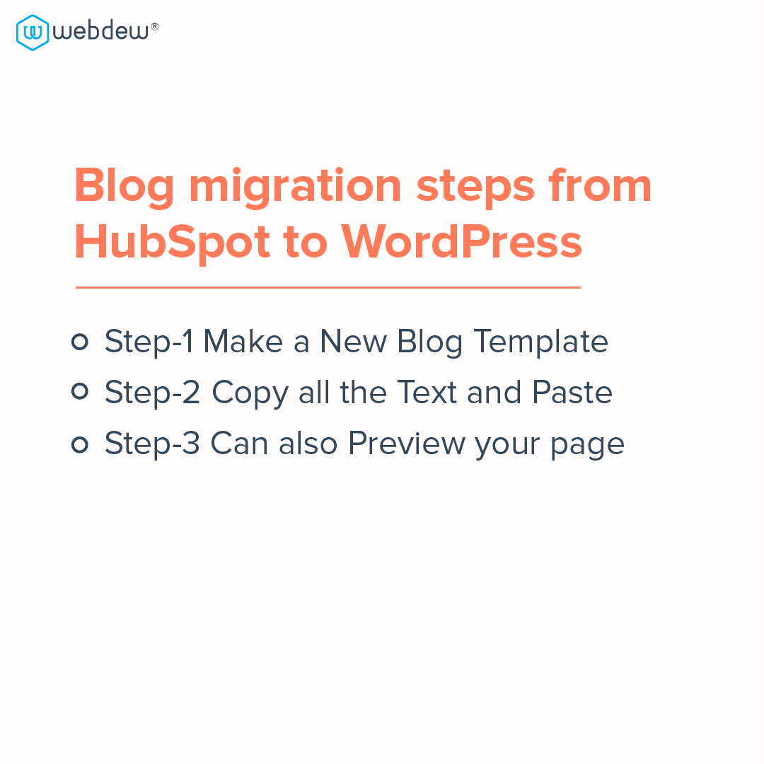 3- blog migration steps from HubSpot to wordpress