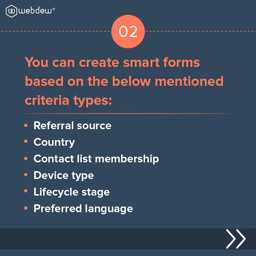 3- criteria for smart forms