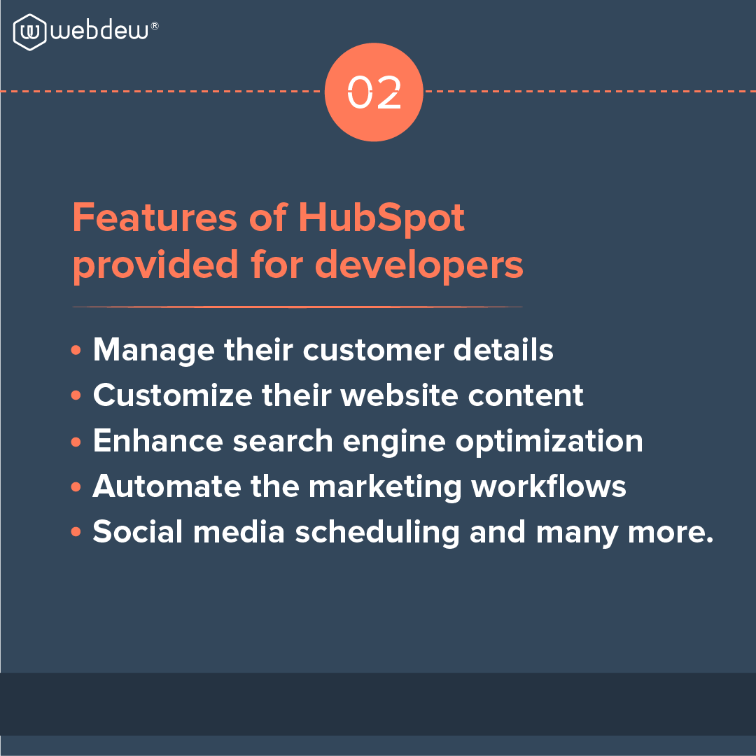 3- features of HubSpot for developers