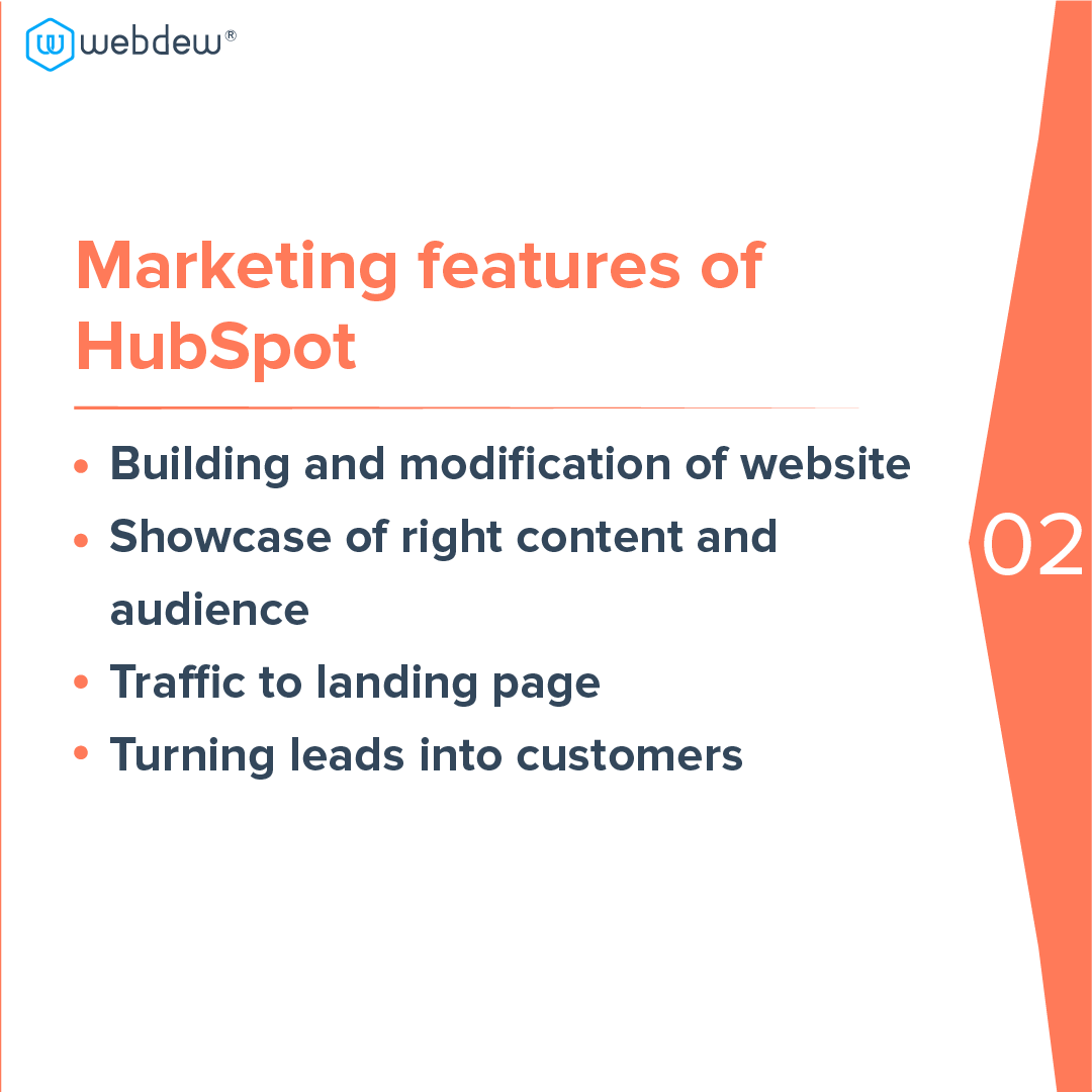 3- marketing features of HubSpot