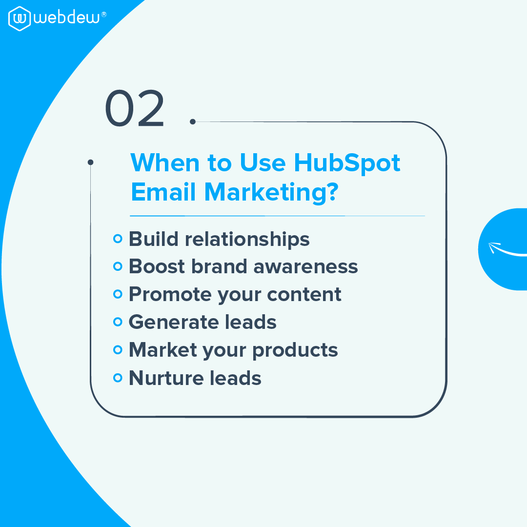 3- when to use HubSpot email marketing