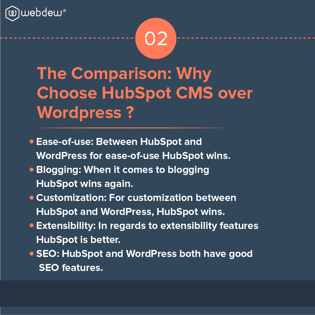3- why choose HubSpot cms over wordpress