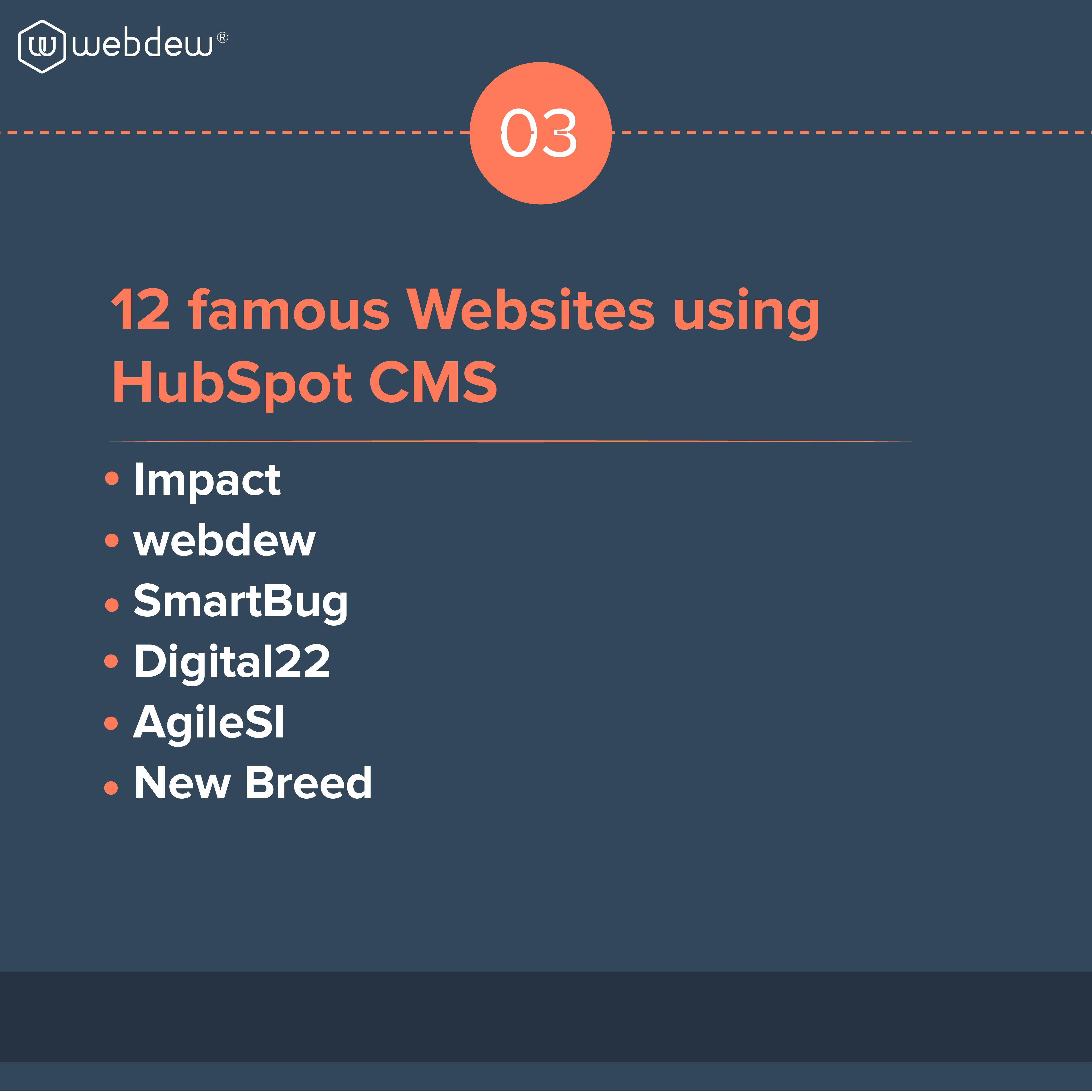 3. 12 famous websites using hubspot CMS