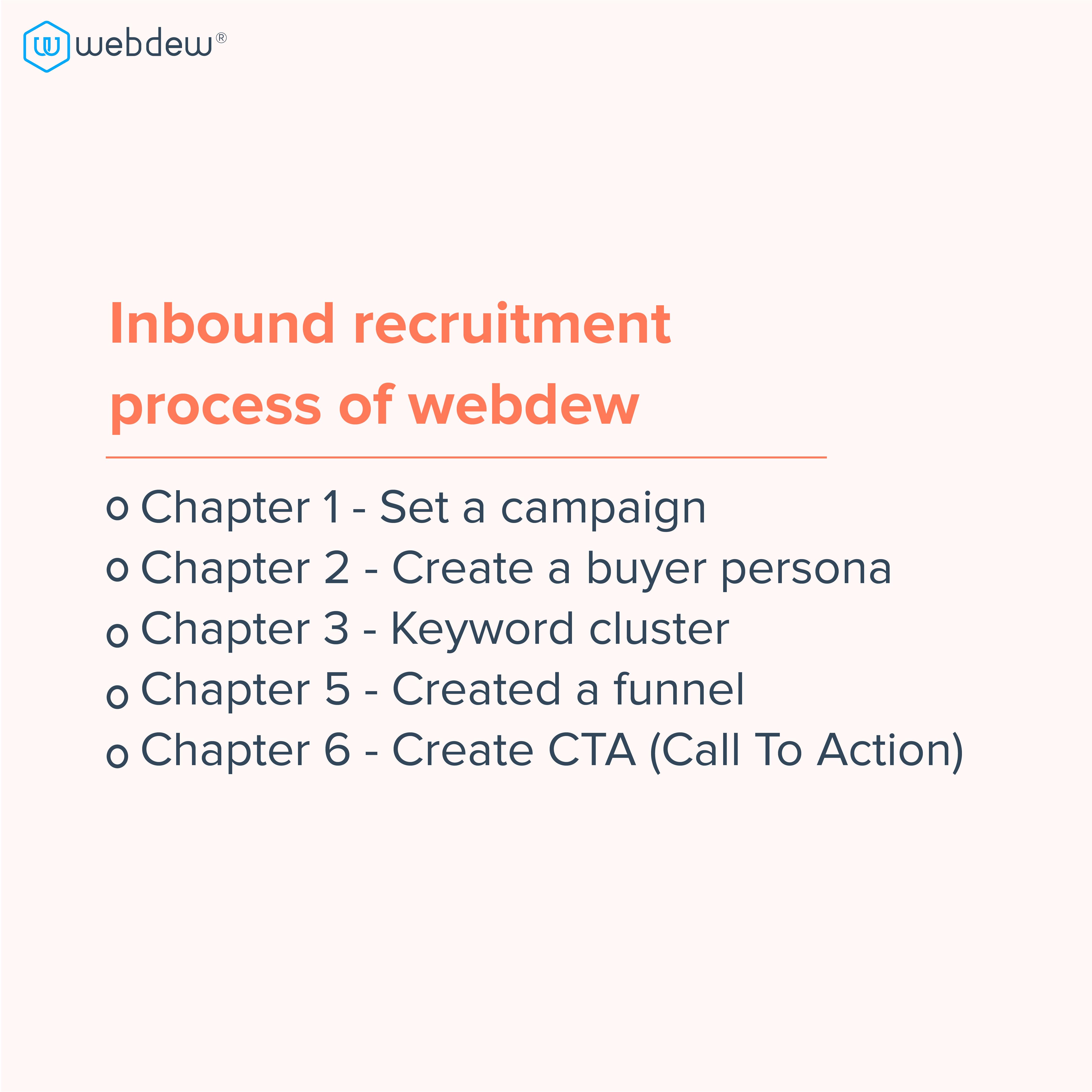 3. inbound recruitment process of webdew