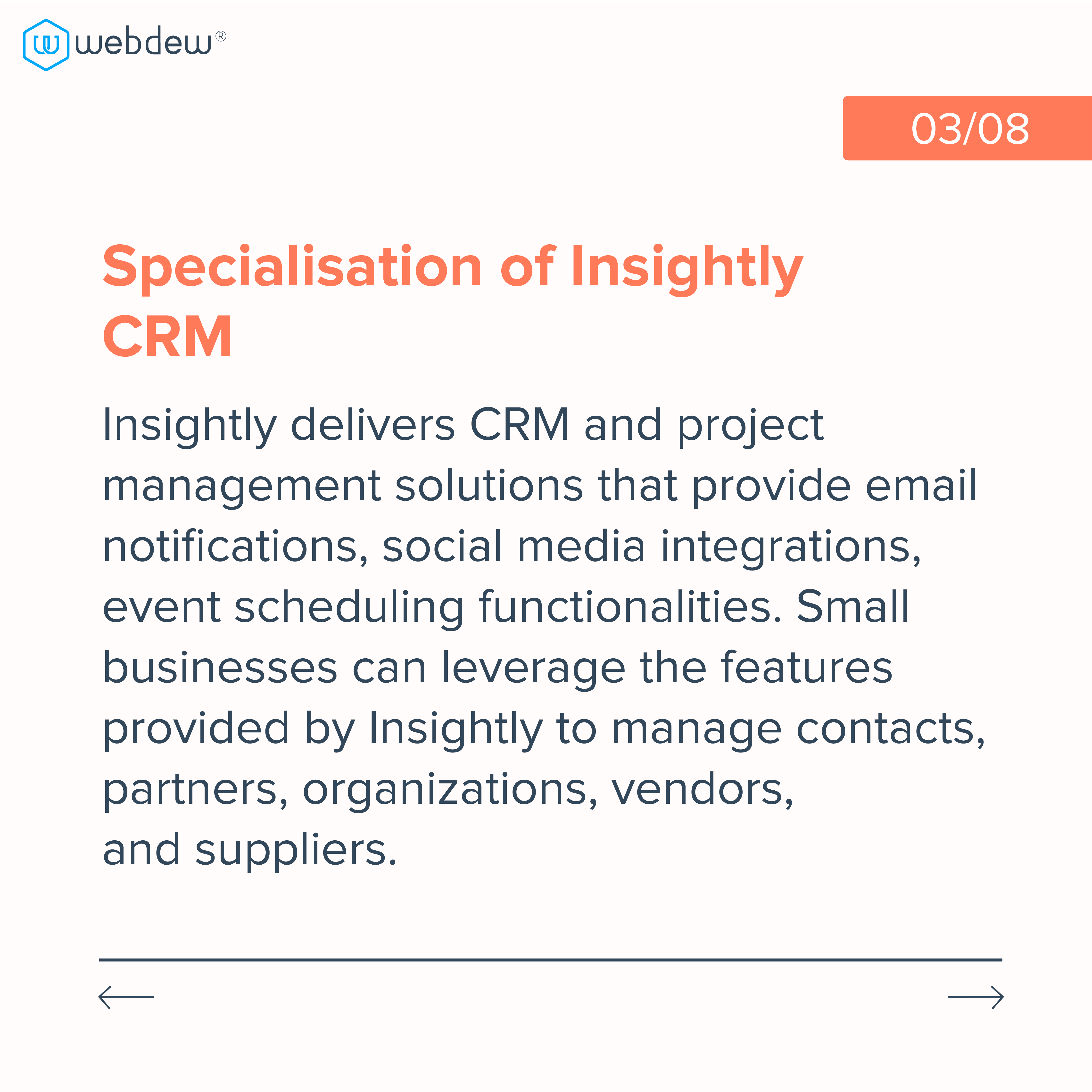 3. specialization of insightly CRM