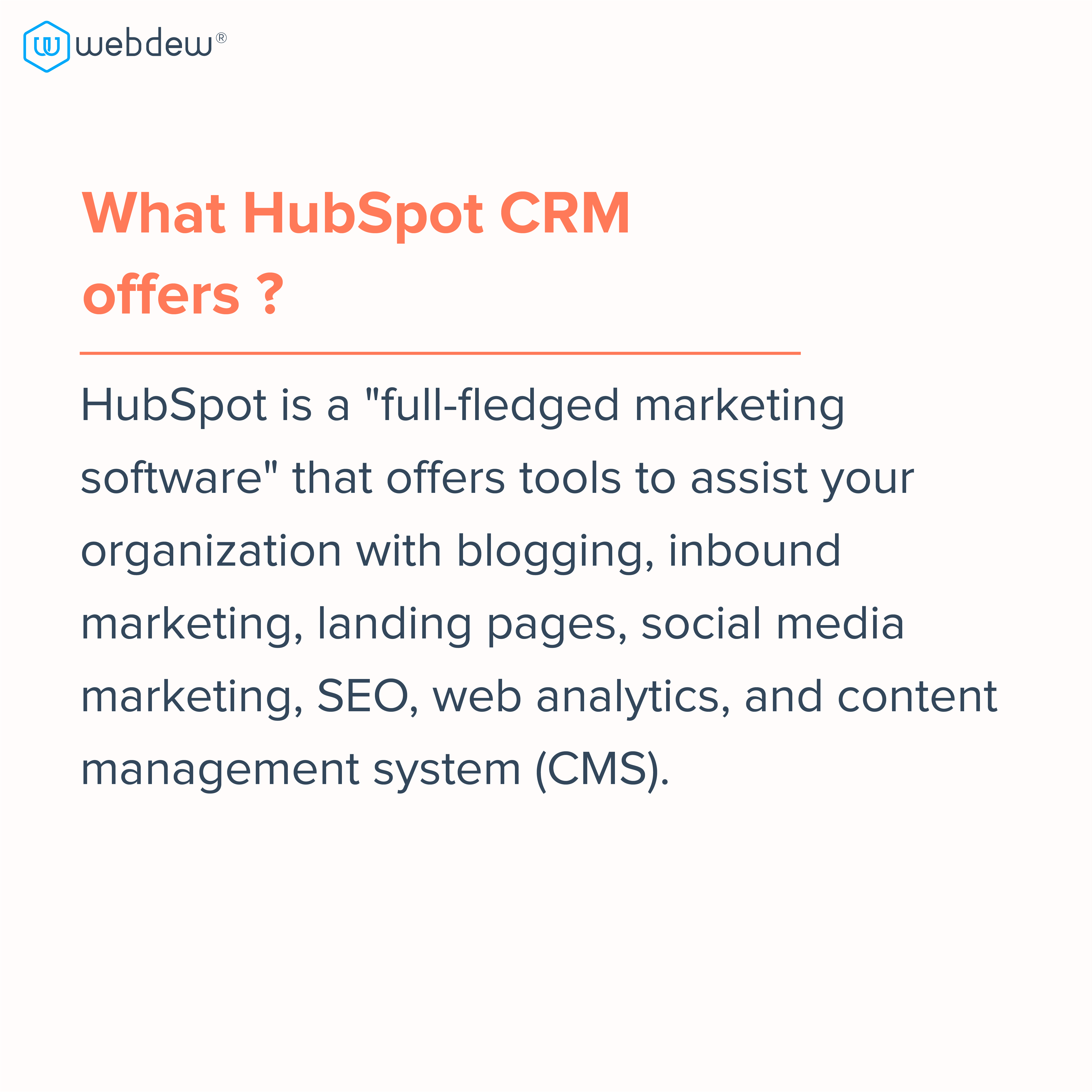 3. what hubspot CRM offers