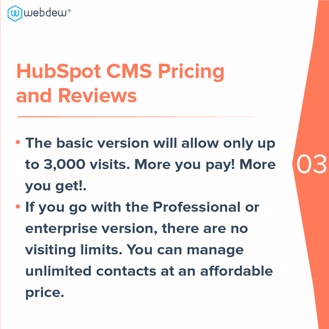 4- HubSpot cms pricing and reviews