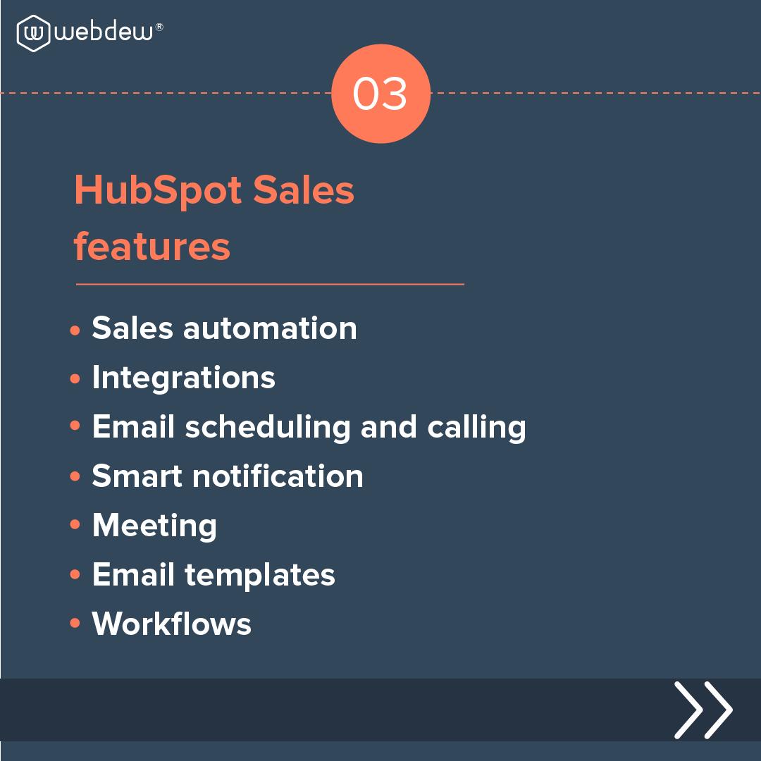 4- HubSpot sales features