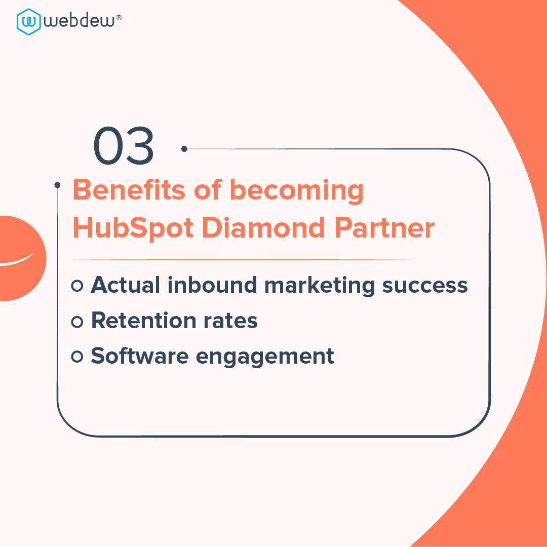 4- benefits of becoming HUbSpot diamond partners