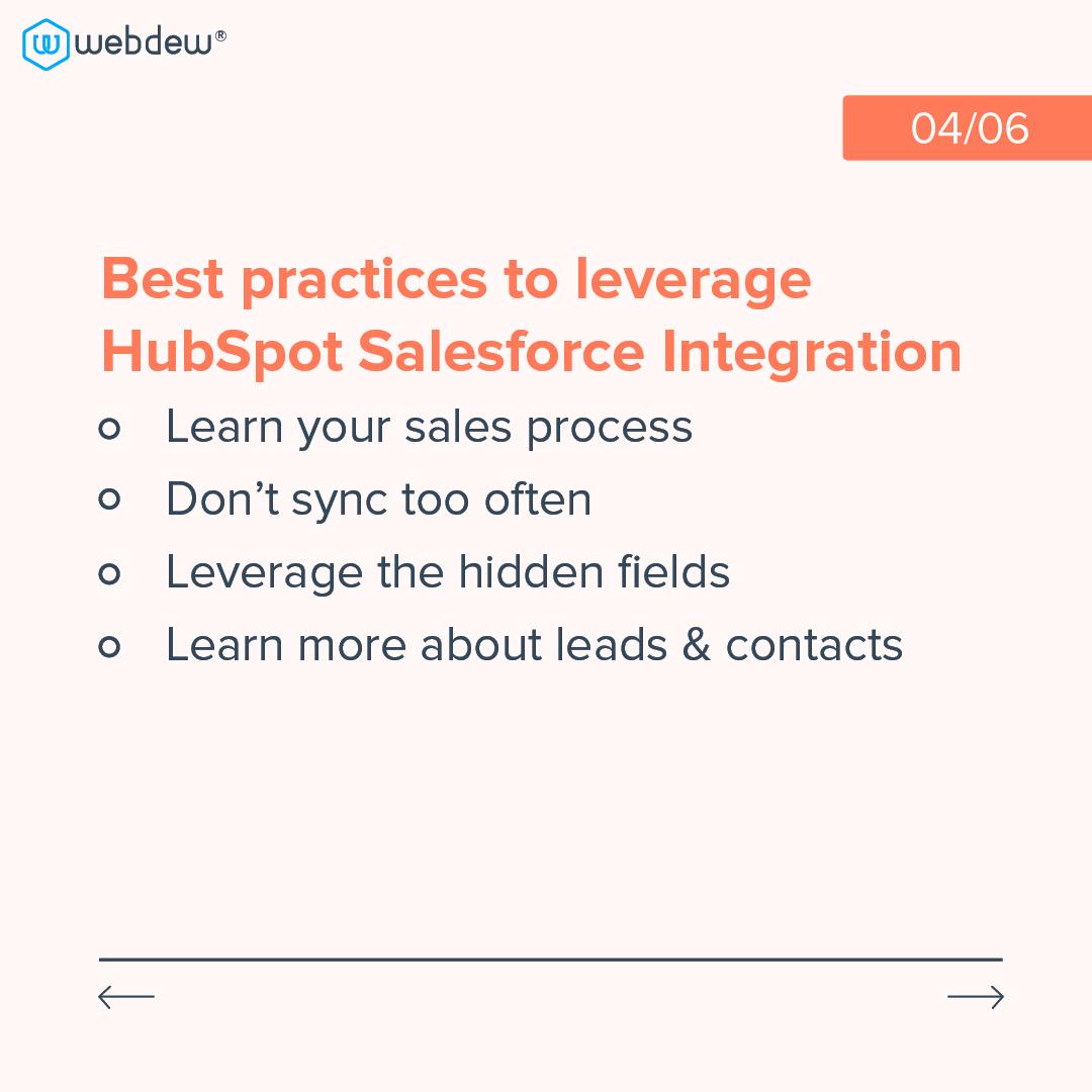 4- best practices to leverage HubSpot salesforce integrations