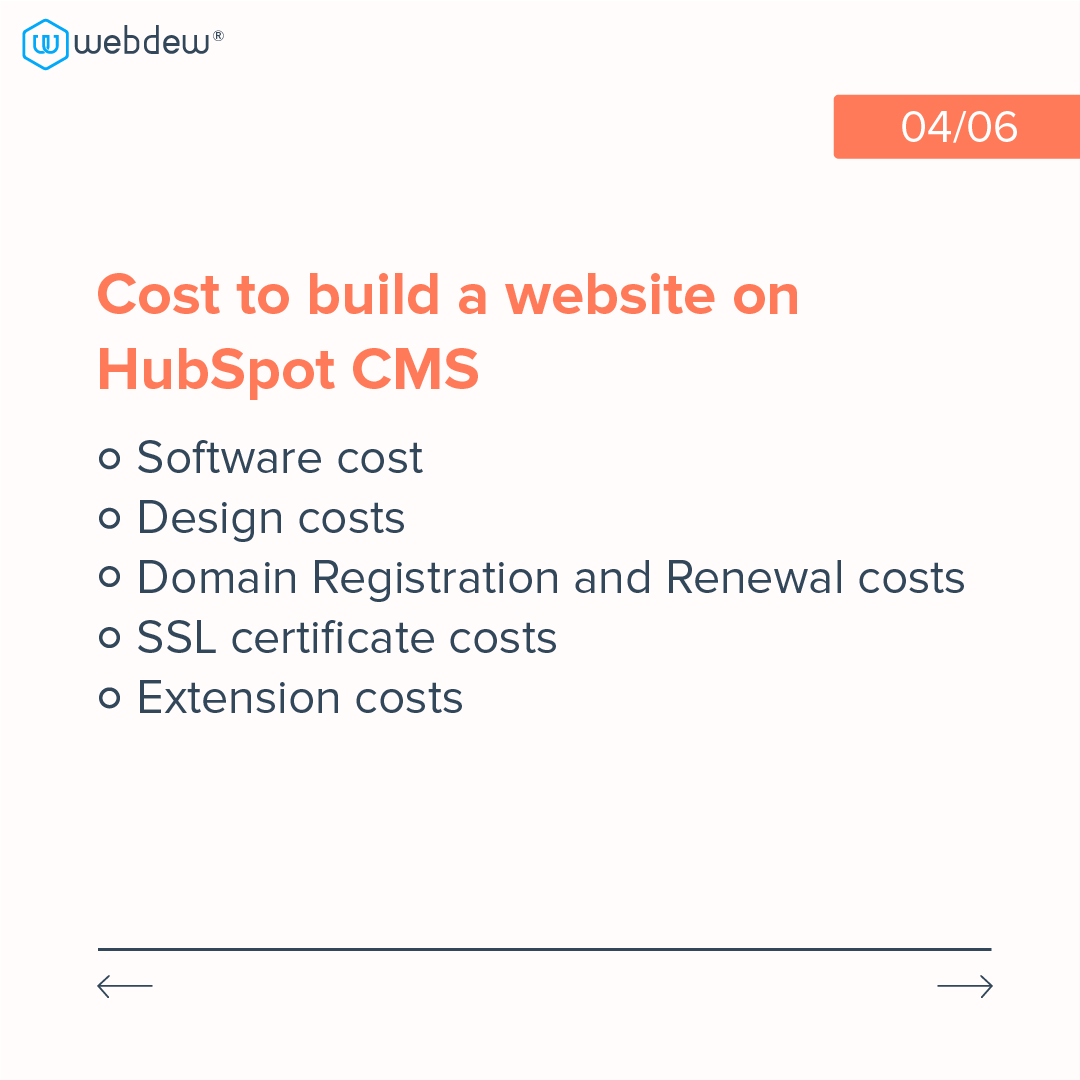 4- cost to build a website on HubSpot cms