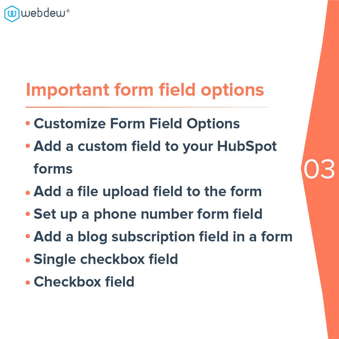 4- important form field options