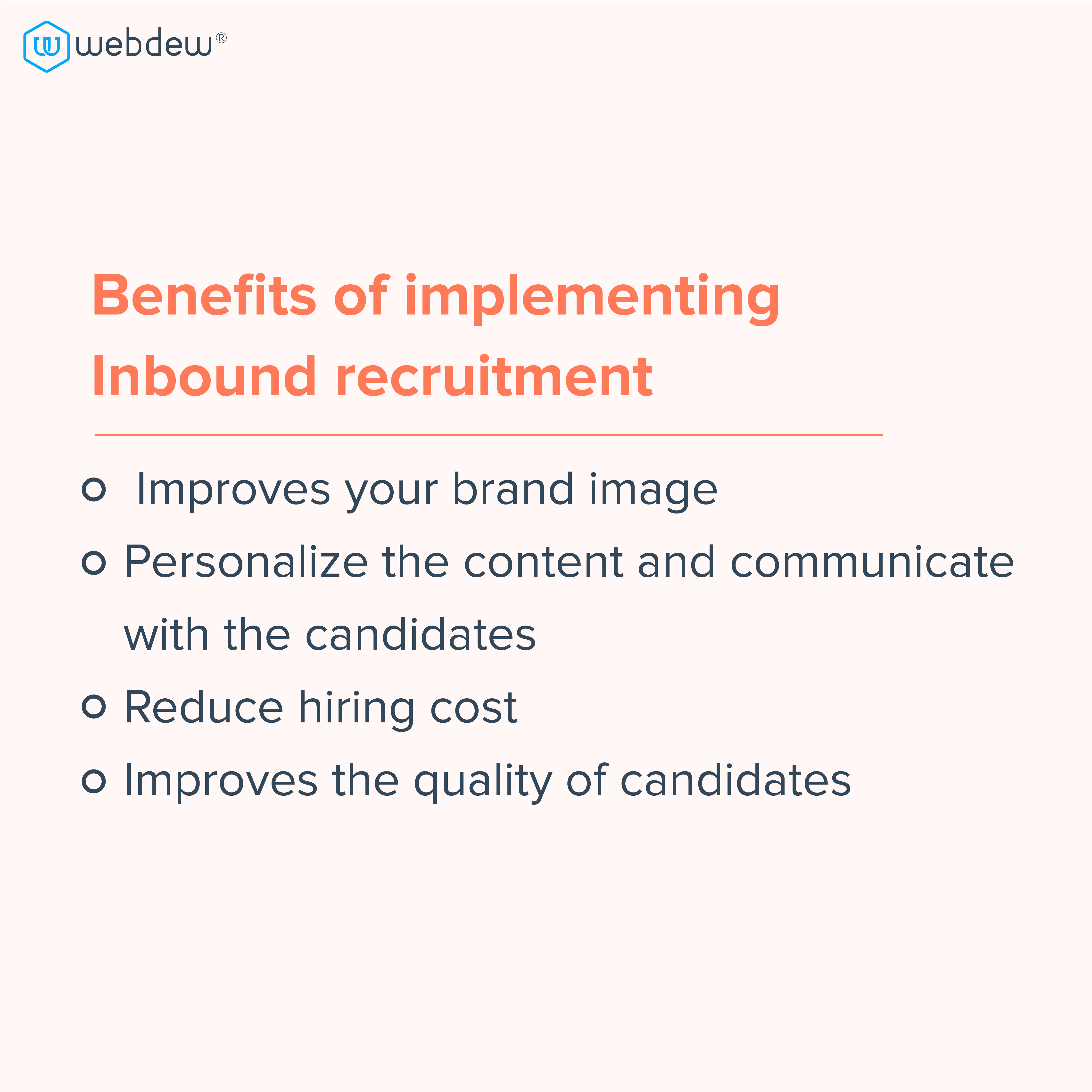 4. benefits of implementing inbound recruitment