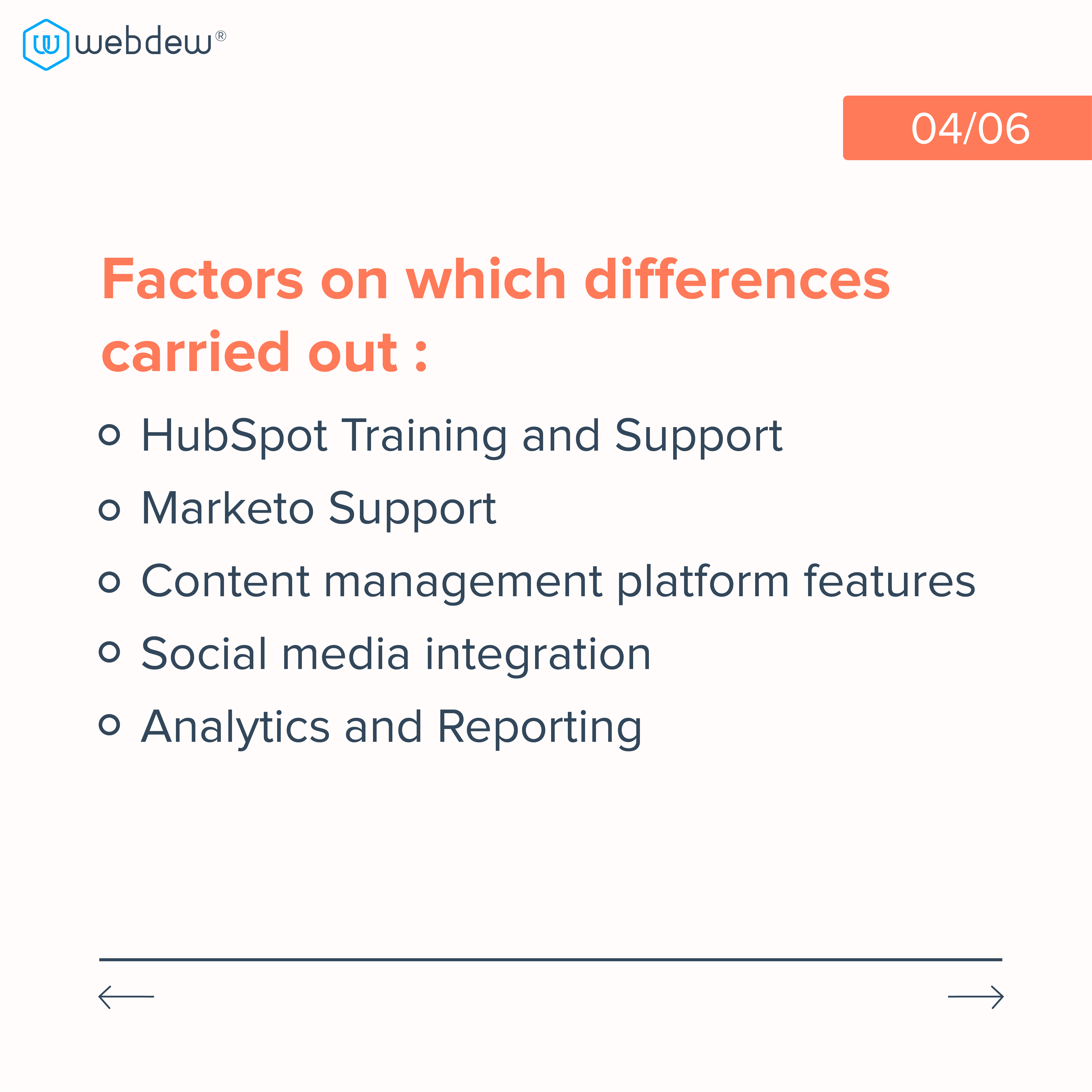 4. factors on which differences carried out
