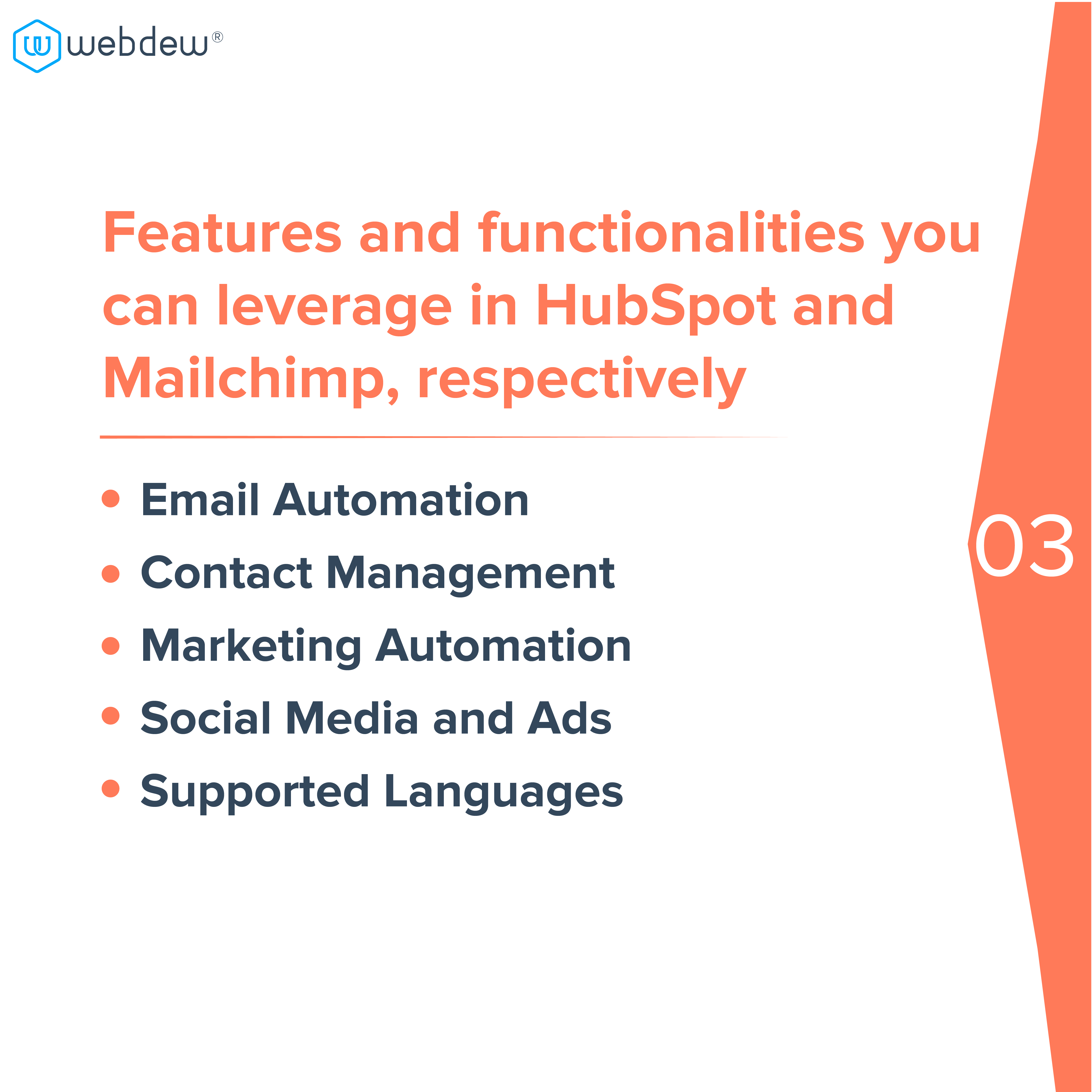 4. features and functionalities of hubspot and mailchimp