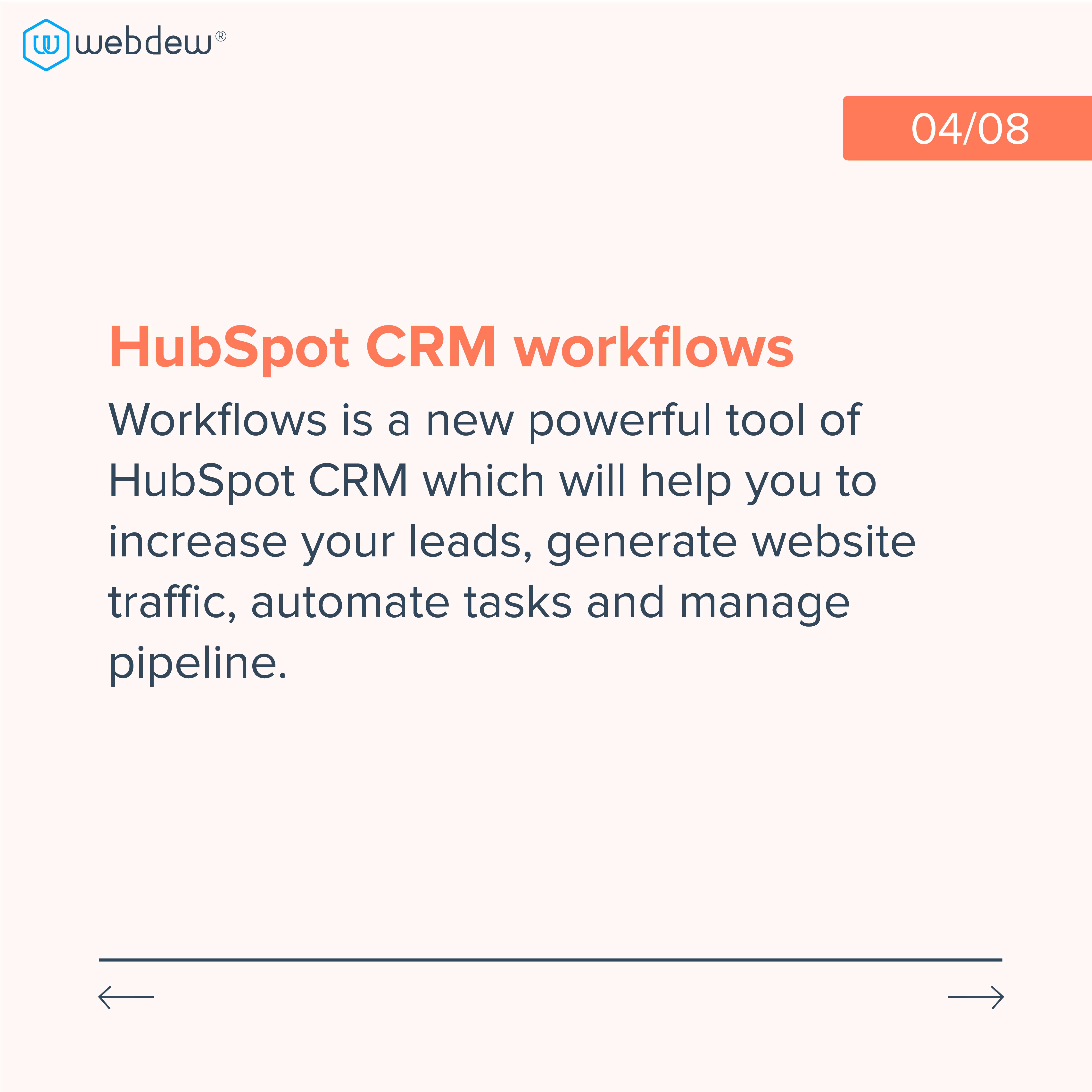 4. hubspot CRM workflow