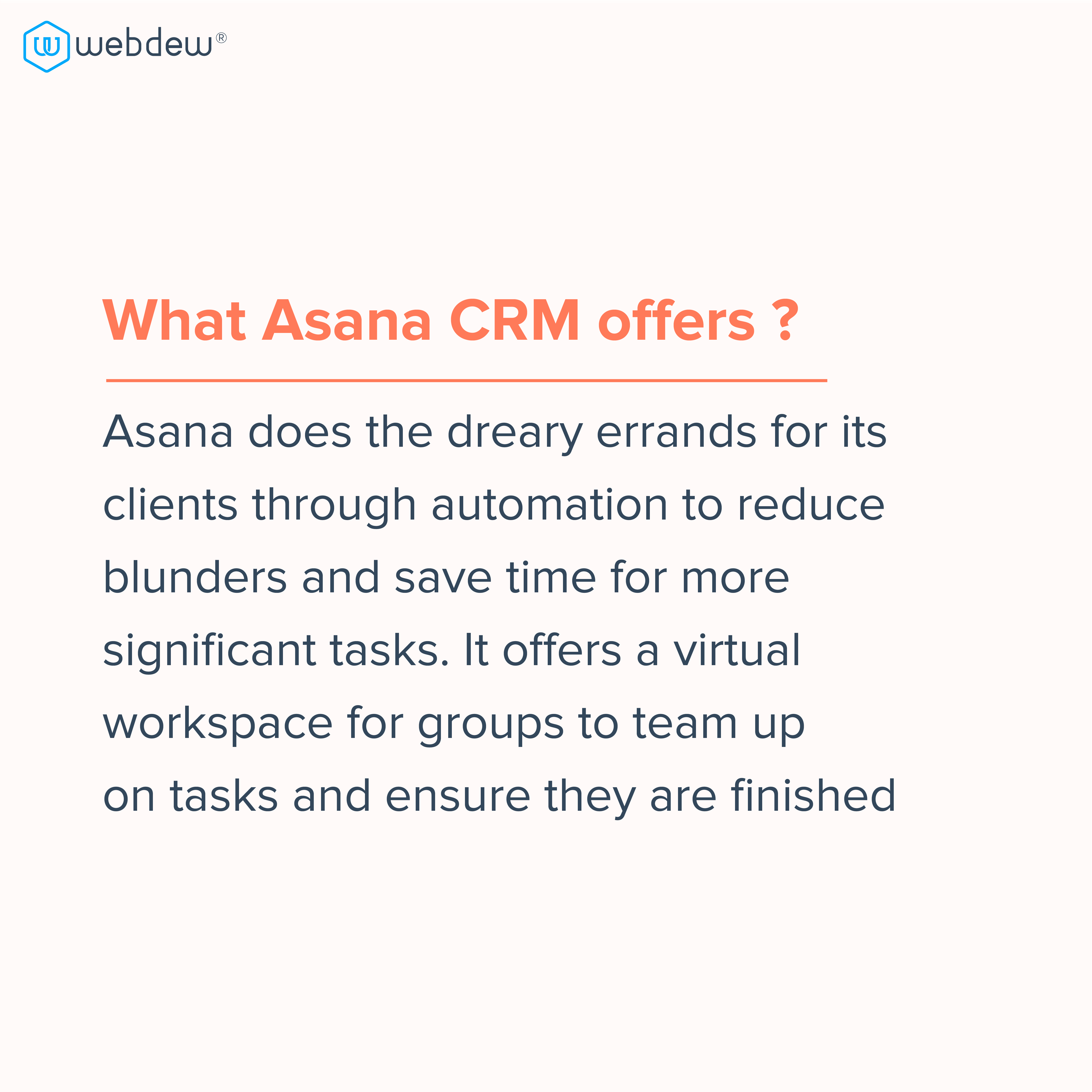 4. what asana CRM offers