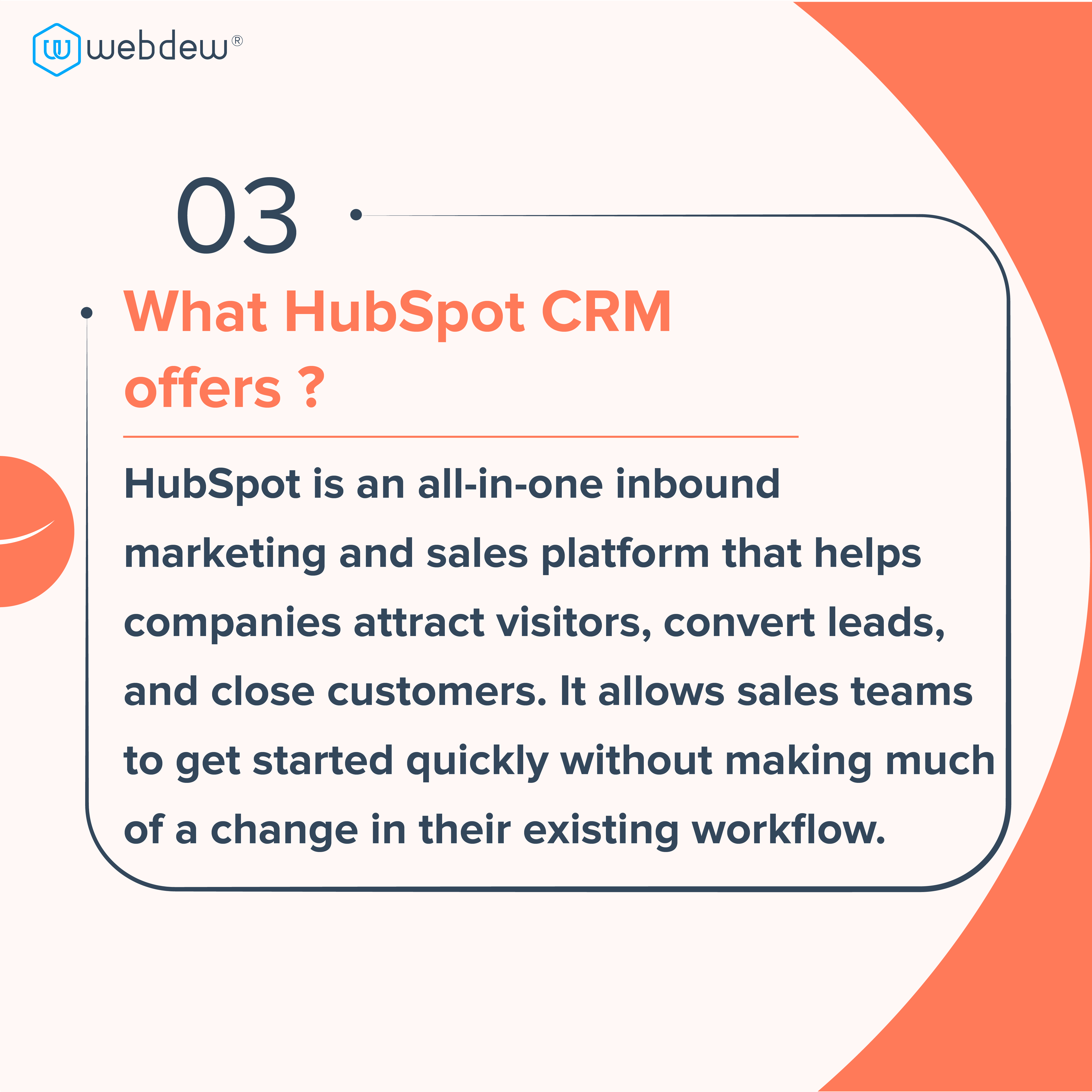 4. what is HubSpot CRM offers