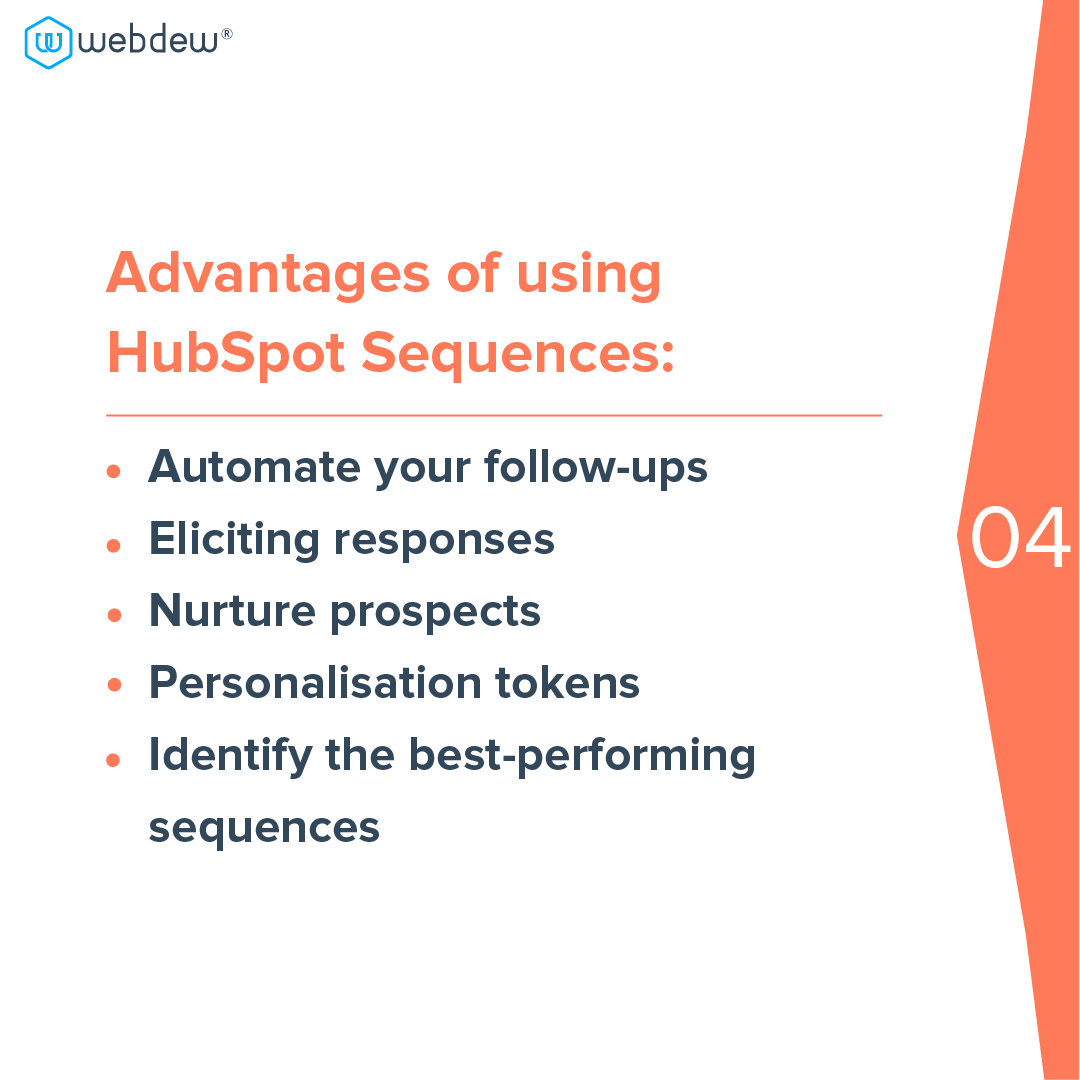 5 - advantages of using HubSpot sequences