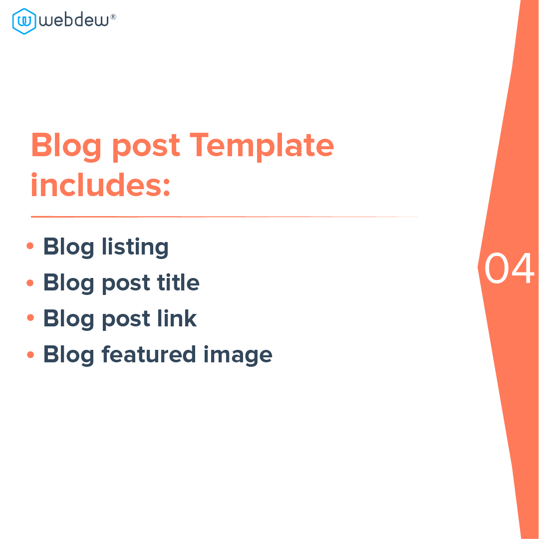 5- blog post template includes