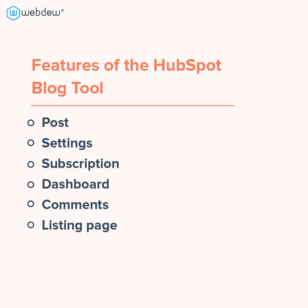 5- features of HubSpot blog tool