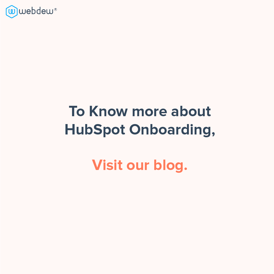 5- to know more about HubSpot onboarding