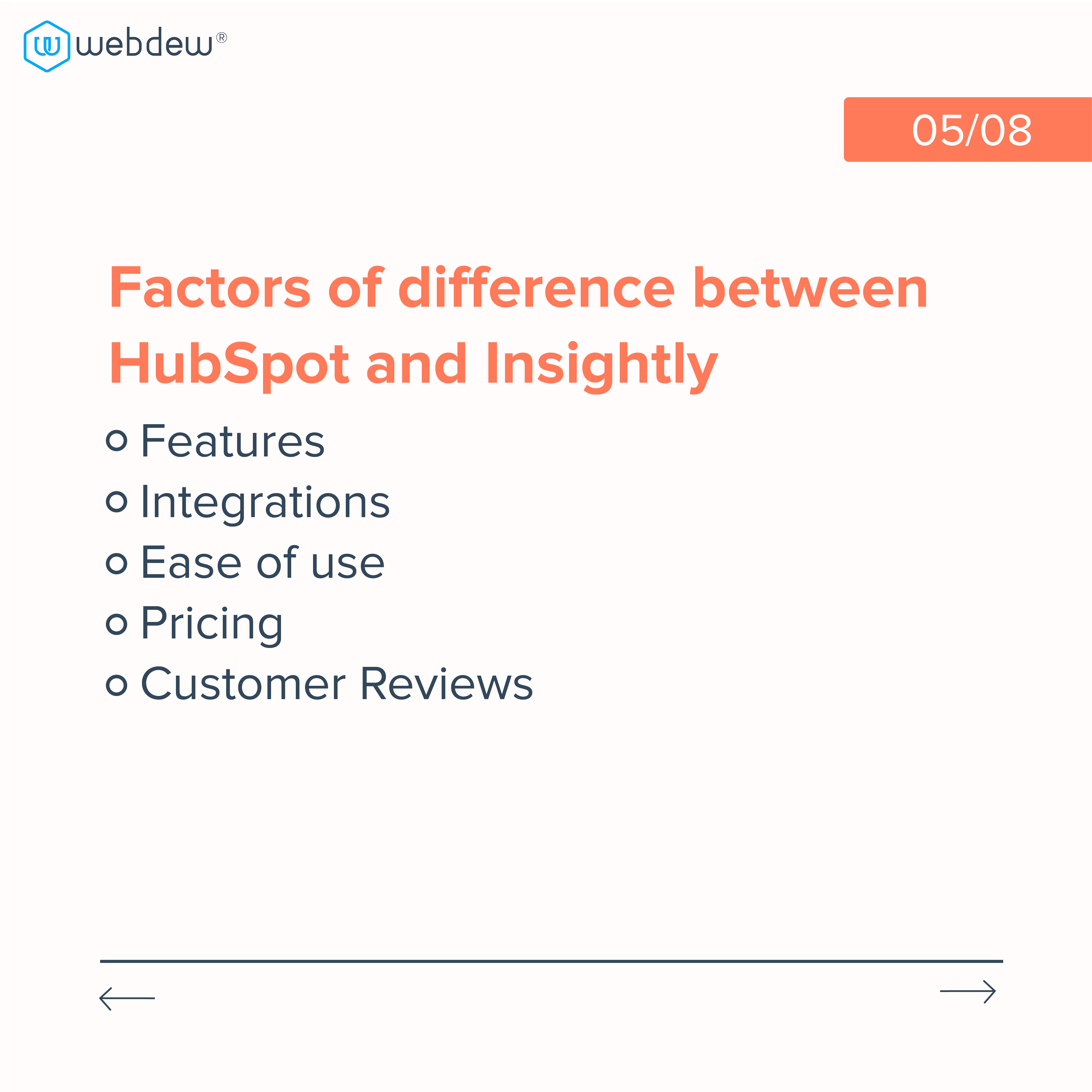 5. features of difference between hubspot and insightly