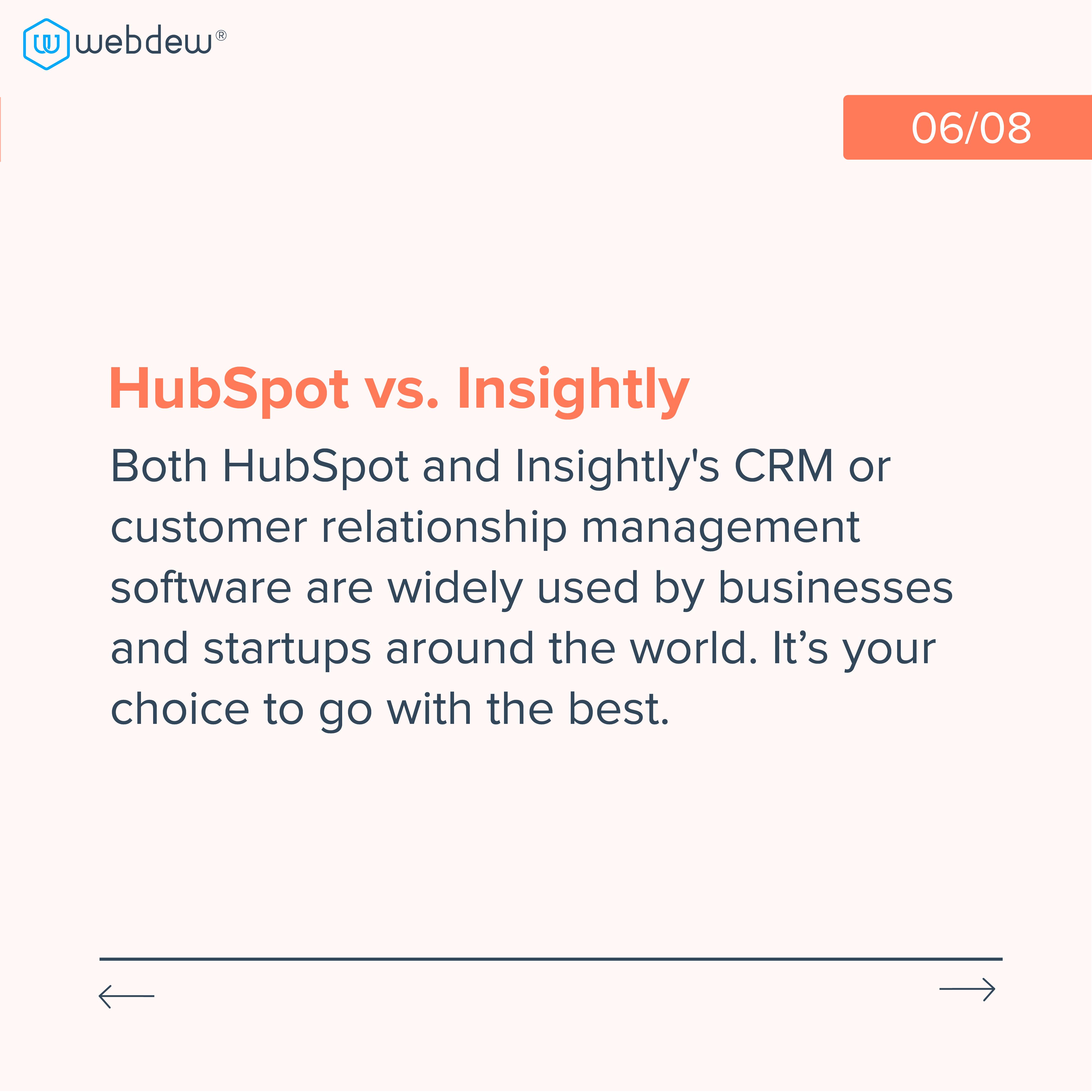 6. hubspot vs. insightly