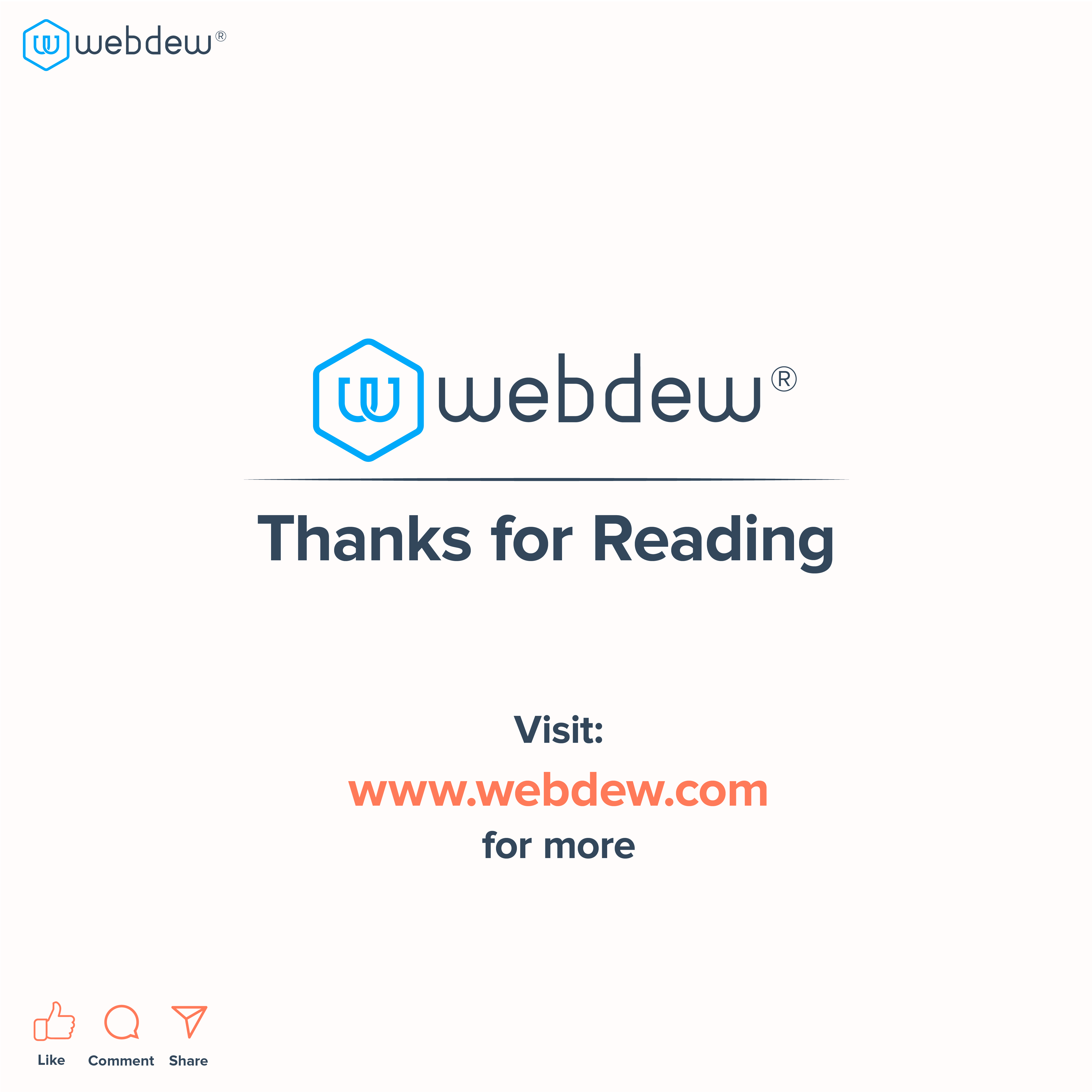8. thanks for reading