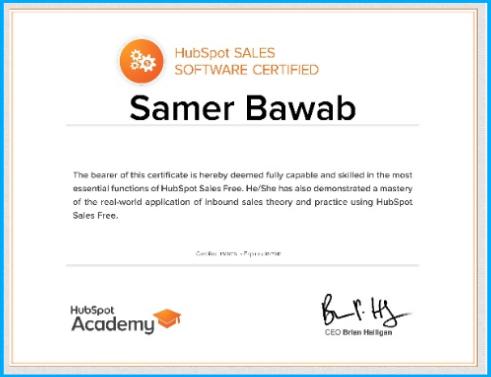 HubSpot-Certification-Samer-Bawab