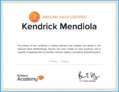 HubSpot-certification-Kendrick-Mendiola
