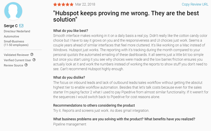Hubspot Sales Review 2crowd