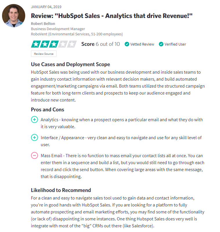Hubspot Sales Review