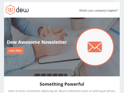 Hubspot Email Template - Dew Email Newsletter