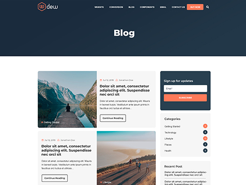 Hubspot Blog Template - Dew Blog Version 1