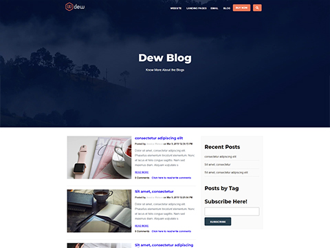 Hubspot Blog Template - Dew Blog Version 2