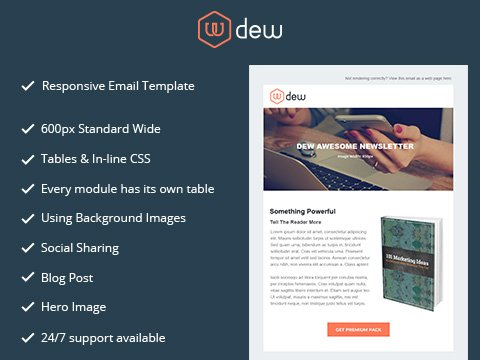Hubspot Email Template - Dew Email Version 2