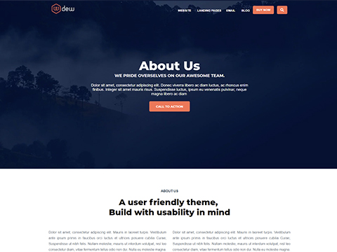 Hubspot Website Template - Dew About Us Version 1